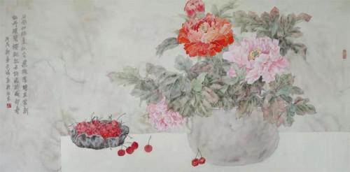 冲渍斑斓 幽玄厚深:观于诺花鸟作品有感