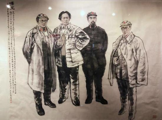 艺术家70周年70幅画作 呈现水墨中的红色记忆