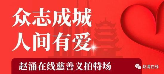 赵涌在线慈善义拍善款全部捐赠武汉市慈善总会