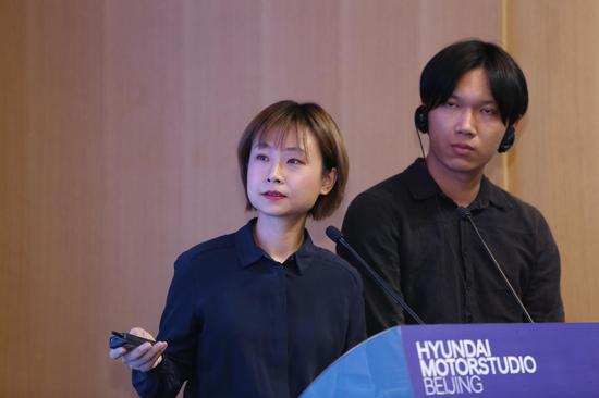 "Hyundai Blue Prize 2019""创意能量(Creativity)""获奖者陈旻+张业鸿决赛演讲现场"